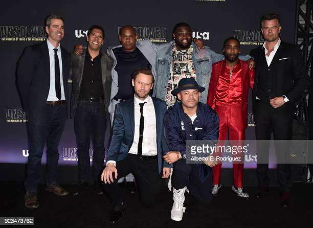 Front Row Actor Jimmi Simpson director Anthony Hemmingway Back Row creator/executive producer Kyle Long executive producer Mark Taylor actors Bokeem...