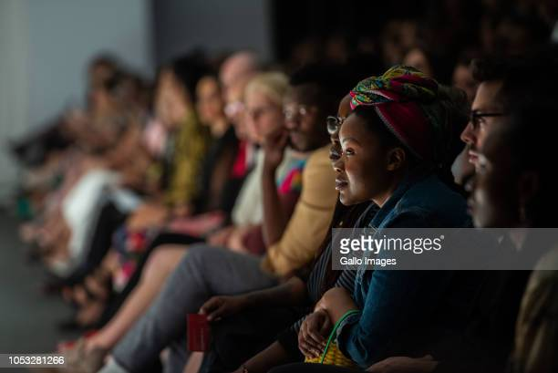 Front row at AFROGRUNGE finalist of SAFW New Talent Search fashion show during Day 1 of the SA Fashion Week Autumn/Winter 2019 Collection at Sandton...