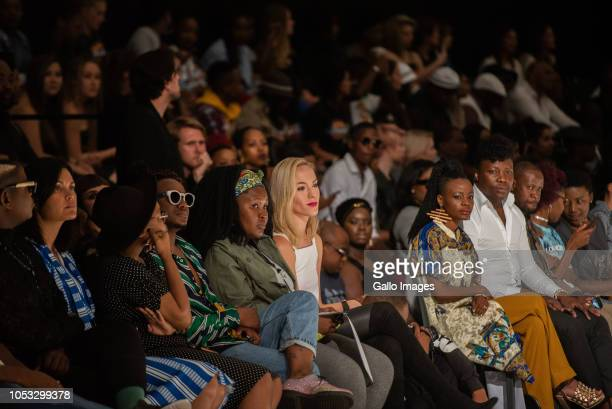 Front row at BIRTH finalist of SAFW New Talent Search fashion show during Day 1 of the SA Fashion Week Autumn/Winter 2019 Collection at Sandton City...