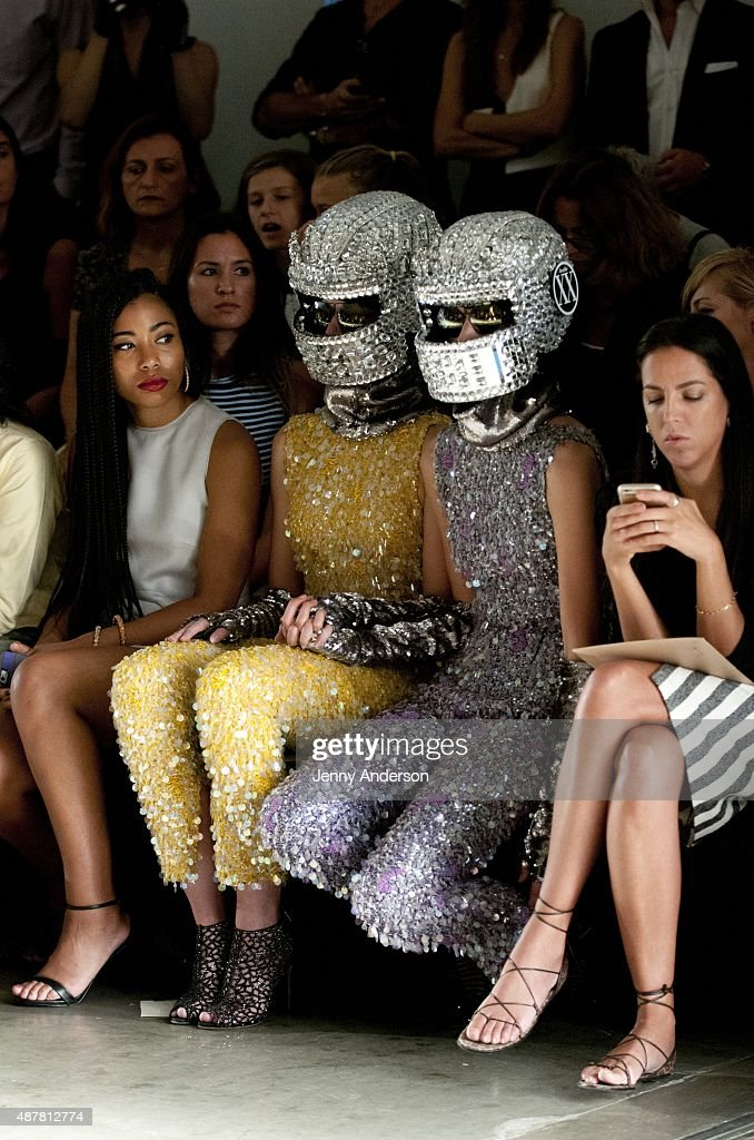 Front row at the Giulietta Spring Summer 2016 fashion show during New York Fashion Week on September 11, 2015 in New York, United States.