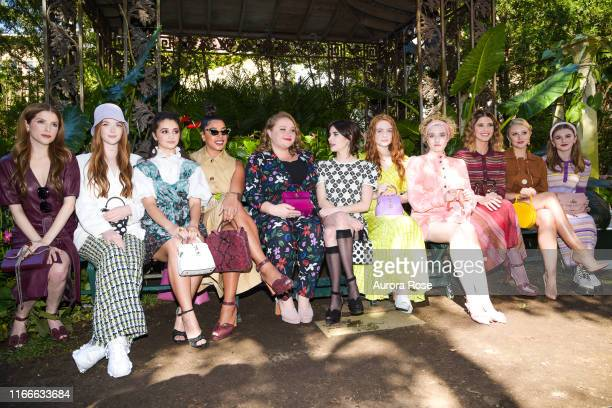 Front Row at the Kate Spade S/S 20 Fashion Show at Elizabeth Street Gardens on September 7 2019 in New York City
