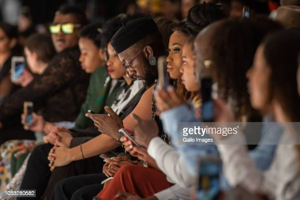 Front row at WOOLWORTHS STYLE BY SA show during Day 1 of the SA Fashion Week Autumn/Winter 2019 Collection at Sandton City Rooftop on October 23 2018...
