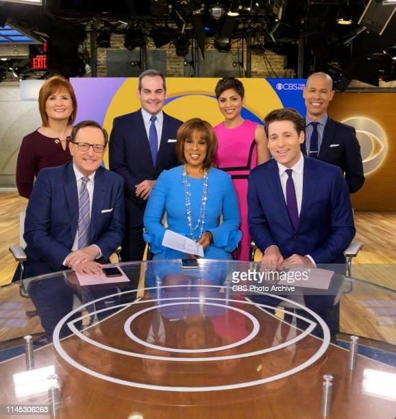 Front row CBS THIS MORNING cohosts Anthony Mason Gayle King and Tony Dokoupil Back row CBS News correspondents Anna Werner David Begnaud Jericka...