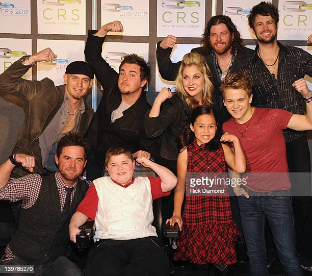 Front Row David Nail Bryson Foster Muscular Dystrophy Association's 2012 National Goodwill Ambassador Abbey Umali 2011 MDA National Goodwill...