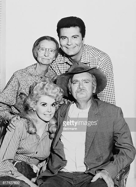 Donna Douglas and Buddy Ebsen Rear Irene Ryan and Max Baerthe cast of the TV series The Beverly Hillbillies