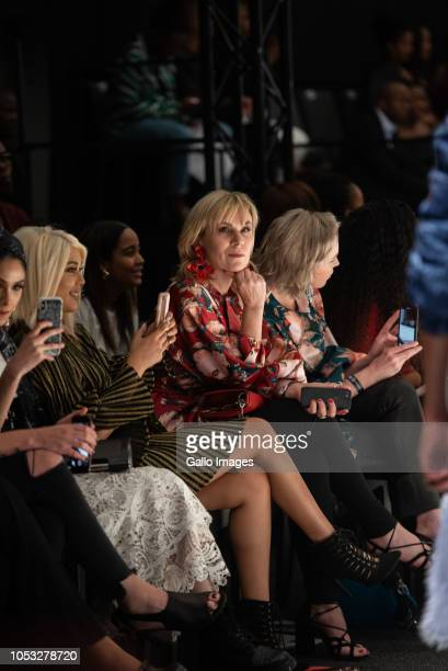 Front row during Day 1 of the SA Fashion Week Autumn/Winter 2019 Collection at Sandton City Rooftop on October 23 2018 in Sandton South Africa SAFW...