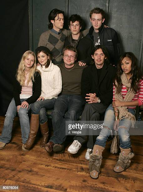 Emily DeRoven Nora Zehetner Rian Johnson Lukas Haas and Meagan Good Back Row Joseph GordonLevitt Noah Segan and Matt O'Leary