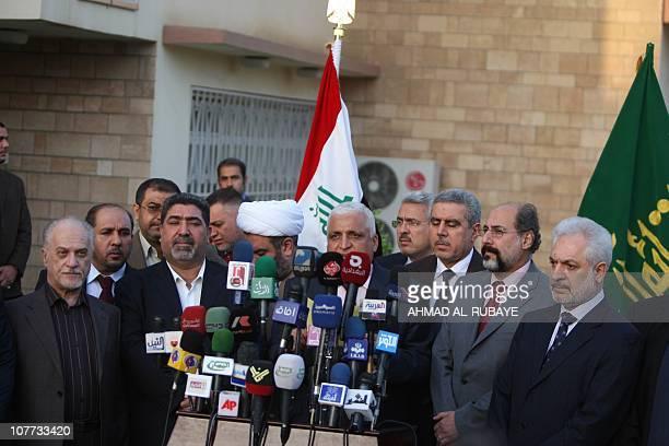 Iraqi Oil Minister Hussein ALShahristani Nassar alRubaie from the radical Sadrist movement Shiekh Abdul Halim alZuheiri Minister of Education Khudair...