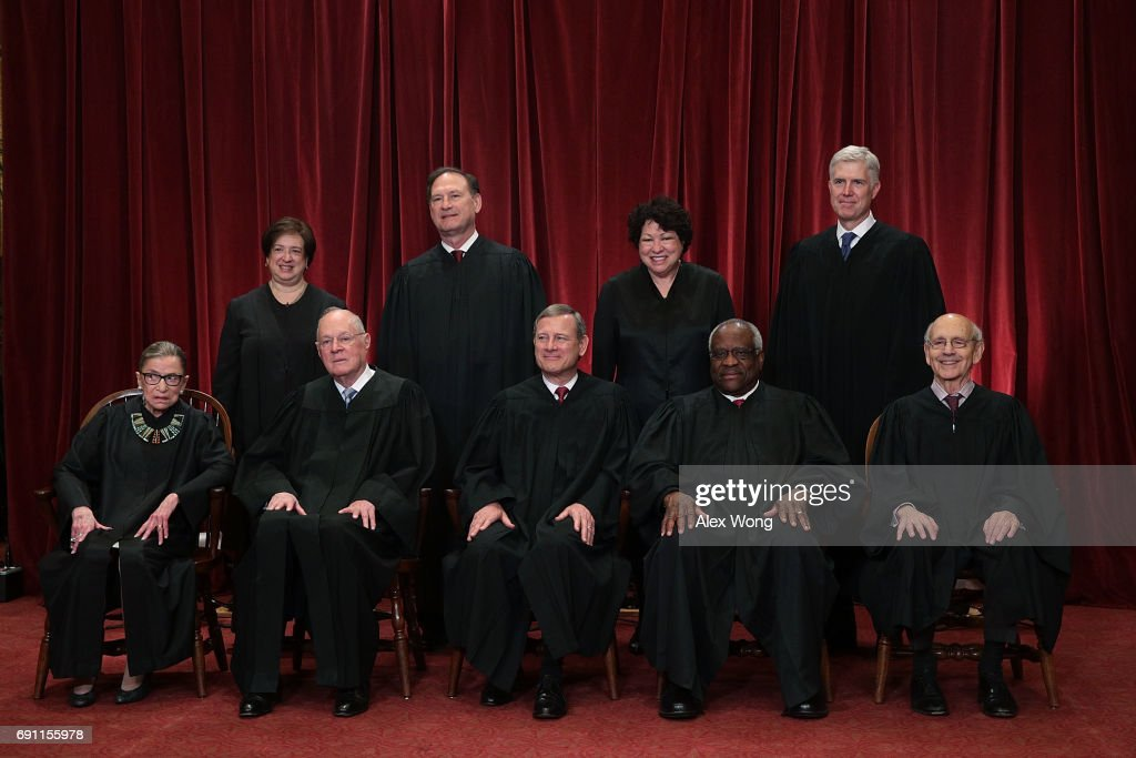 U.S. Supreme Court Justices Pose For Formal Portrait : News Photo