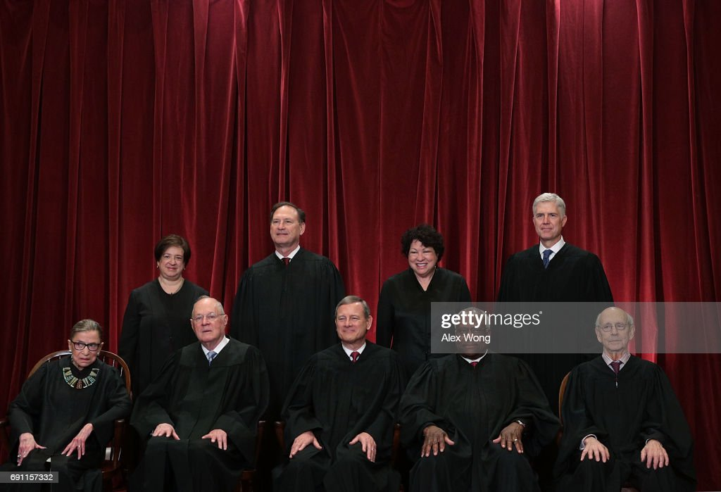 U.S. Supreme Court Justices Pose For Formal Portrait