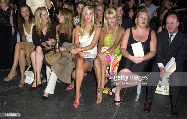 Front row including Ivanka Trump and Ivana Trump during 2002 New York Fashion Week Moet Chandon Presents Behnaz Sarafpour Fashion Show at Industria...