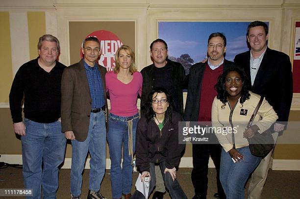 Janeane Garofalo and Sheryl Underwood Back Row Joe Lockhart guest Laura Ingraham Ben Karlin Eric Alterman and Joe Scarborough