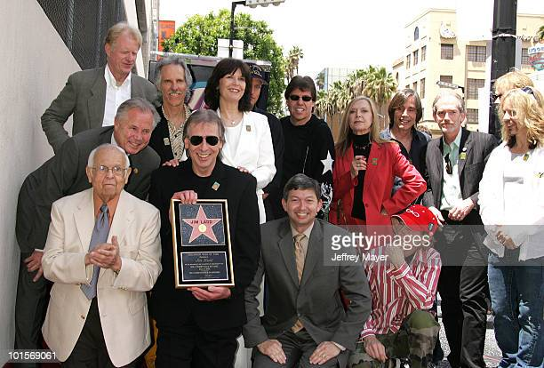 Front row Johnny Grant Jim Ladd Leron Gubler Robby Krieger of The Doors Tommy Shaw of Styx 2nd row Tom LaBonge Ed Begley Jr John Densmore of The...