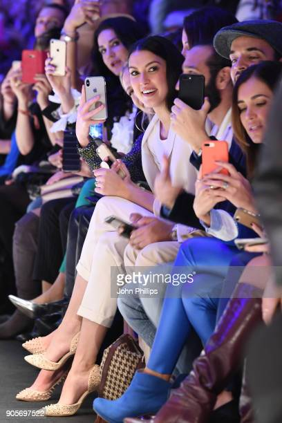 Front row on the runway during the Riani show during the MBFW Berlin January 2018 at ewerk on January 16 2018 in Berlin Germany