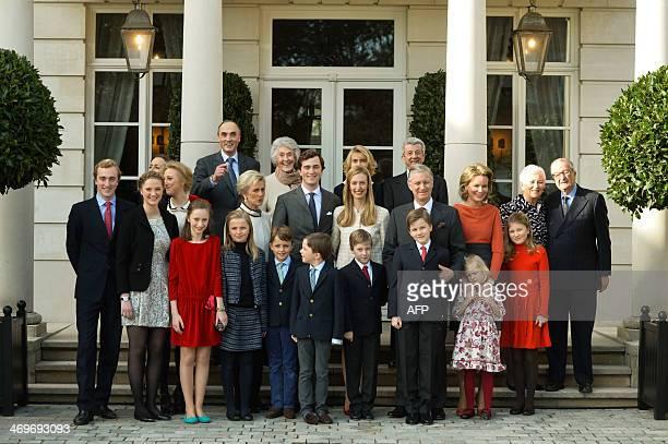 Front row Prince Joachim Princess Luisa Maria Princess Laetitia Maria Princess Louise twin Prince Nicolas and Prince Aymeric Prince Emmanuel Prince...