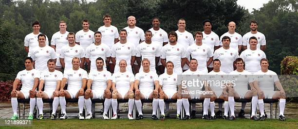 Front row Shontayne Hape Mark Cueto James Haskell Nick Easter Mike Tindall Lewis Moody captain Jonny Wilkinson Steve Thompson Lee Mears Tom Wood...