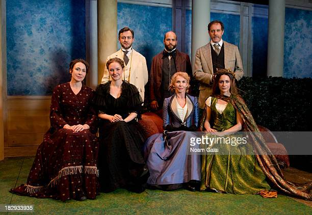"Front row Stella Feehily, Amanda Quaid, Trudie Styler and Rachel Spencer Hewitt, back row Alan Cox, Slate Holmgren and Rufus Collins pose during ""The..."