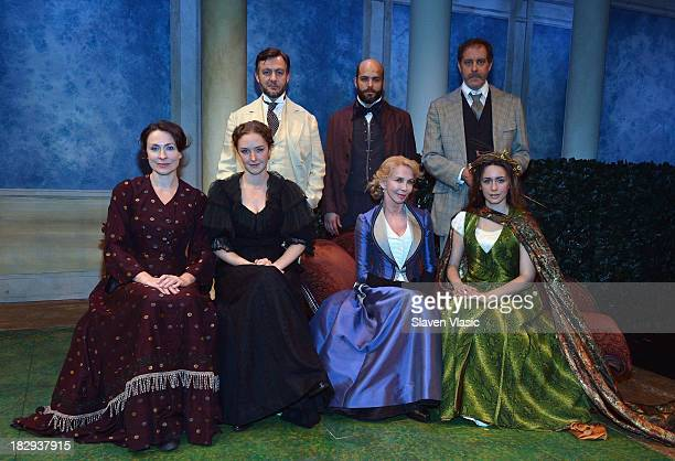 Front row Stella Feehily Amanda Quaid Trudie Styler and Rachel Spencer Hewitt back row Alan Cox Slate Holmgren and Rufus Collins pose during The...