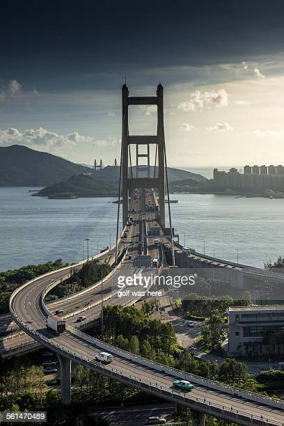 Front side of Tsing ma bridge