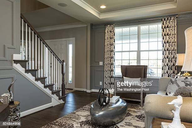 Front Sitting Area and Foyer in the Virginia III Model at Raymond Farm on April 20 2016 in Warrenton Virginia