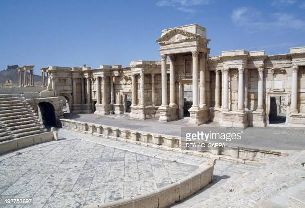 Front stage of the Palmyra theatre Syria Roman civilisation 2nd century AD