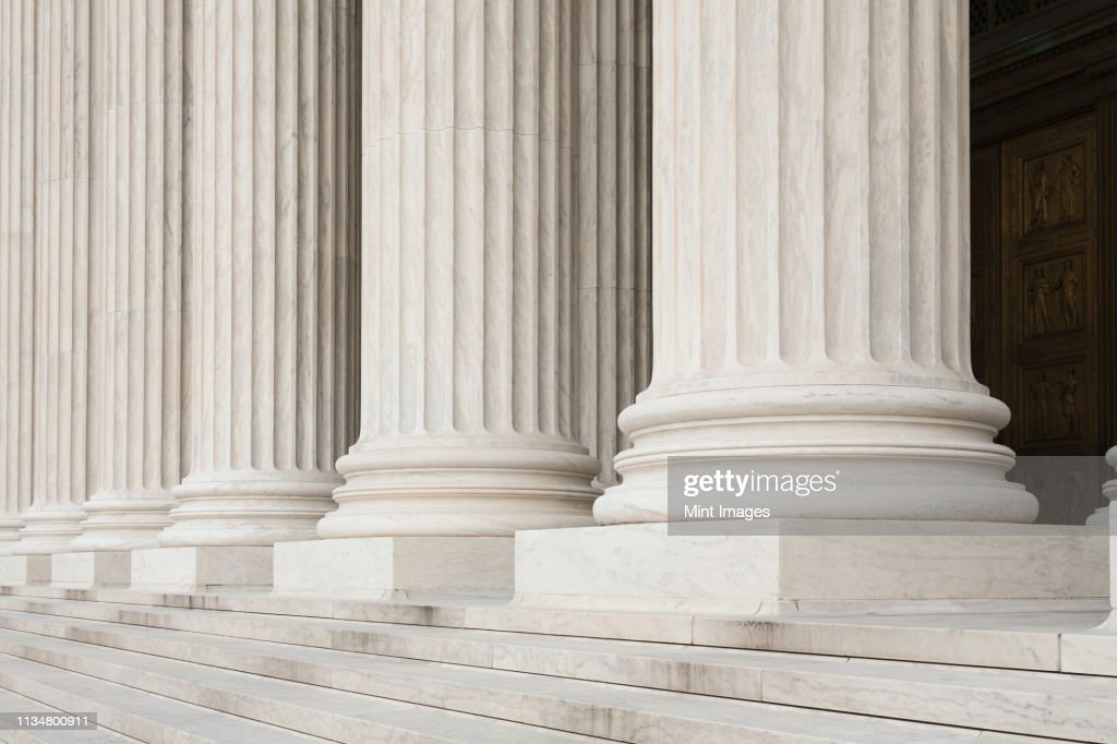 Front Steps and Columns of the Supreme Court : Stock Photo