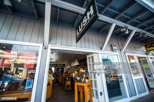 front street in lahaina, maui, hawaii, usa - lush stock pictures, royalty-free photos & images