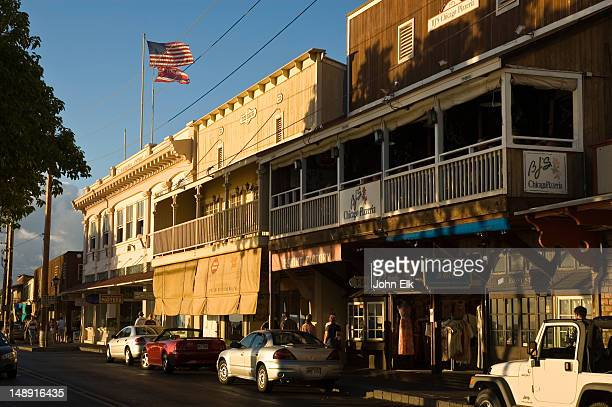 front street. - lahaina stock pictures, royalty-free photos & images