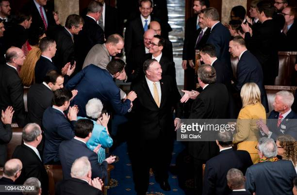 Front to back Secretary of State Mike Pompeo Secretary of the Treasury Steven Mnuchin Secretary of Agriculture Sonny Perdue Secretary of Commerce...