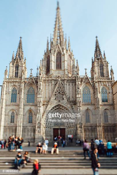 Front view of Barcelona Cathedral