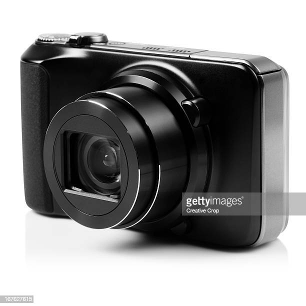 Front view of black digital camera
