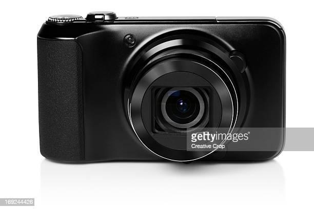 Front view of black digital camera