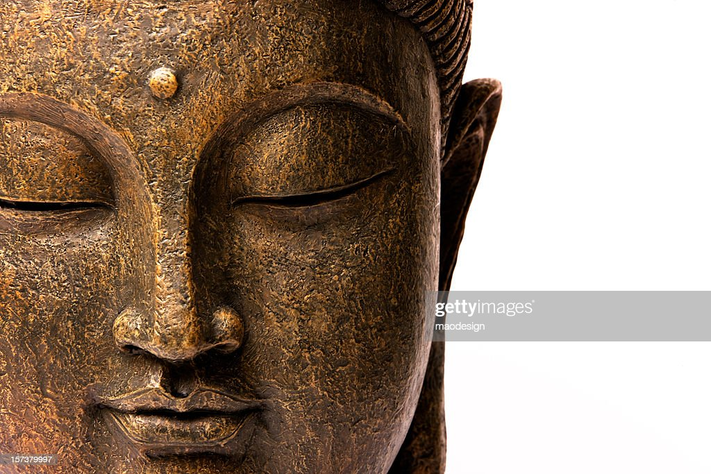 Front view of Buddha's face : Stock Photo