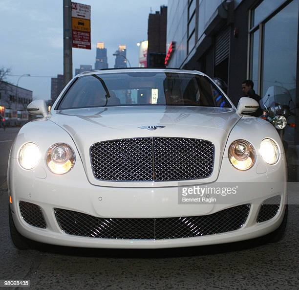 A front view of Cassidy's Bentley on March 25 2010 in New York City