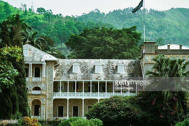 Front view of Governor's mansion, Port of Spain, Trinidad