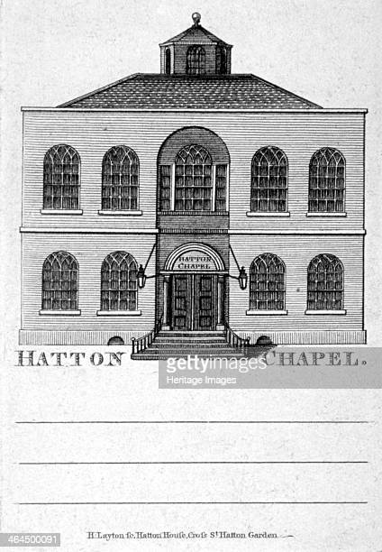 Front view of Hatton Chapel, Hatton Garden, London, c1750.