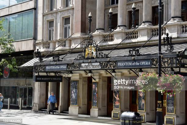Front view of Her Majestys Theatre in Haymarket The Phantom of the Opera is to permanently close in the West End having run 34 years, a blow to the...