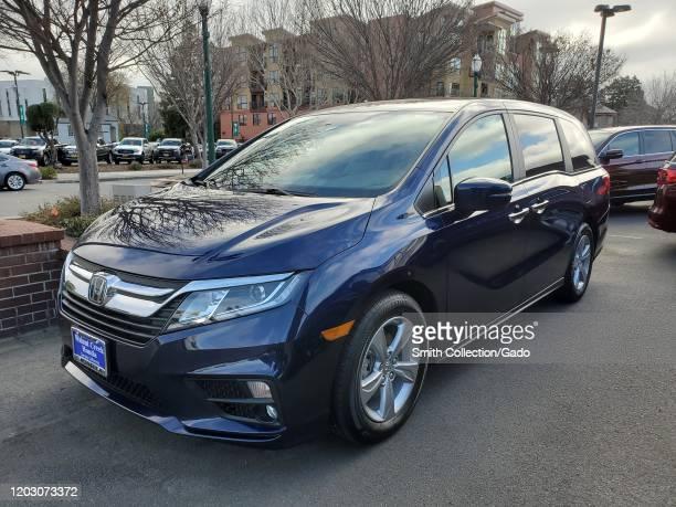Front view of Honda Odyssey minivan, Walnut Creek, California, January 30, 2020.