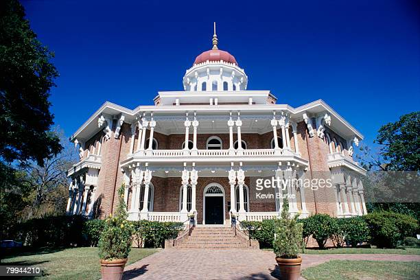 front view of longwood mansion - antebellum stock photos and pictures