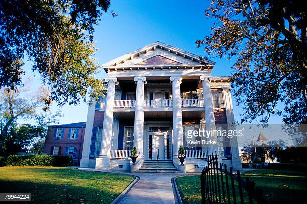 front view of magnolia hall plantation house - antebellum stock photos and pictures