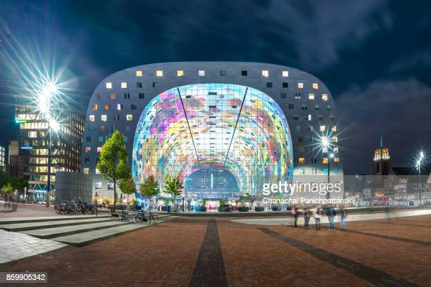 Front view of Markthal in Rotterdam, The Netherlands