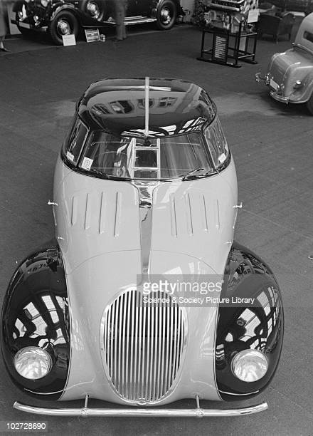 Front view of Maybach car with split screen at Berlin Exhibition Photograph taken during Berlin Automobile Exhibition 1935
