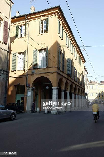 Front view of Modena Municipal Theatre where Luciano Pavarotti will marry Nicoletta Mantovani on December 13th 2003