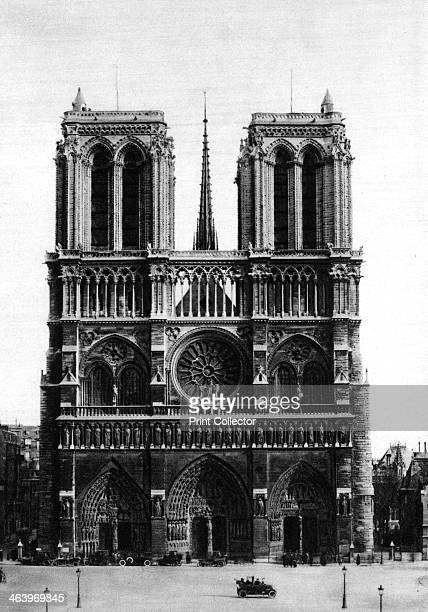 Front view of Notre Dame Paris 1931 Illustration from the book Paris published by Ernest Flammarion