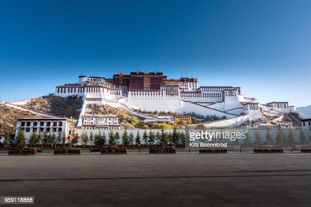 Front view of Potala palace, the most famous palace in Tibet, China