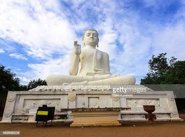 front view of sitting buddha at mihintale - mihintale stock pictures, royalty-free photos & images