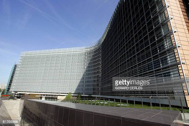 Front view of the Berlaymont housing the new European Commission headquarters in Brussels taken 02 September 2004 EU new chairman Portuguese Jose...