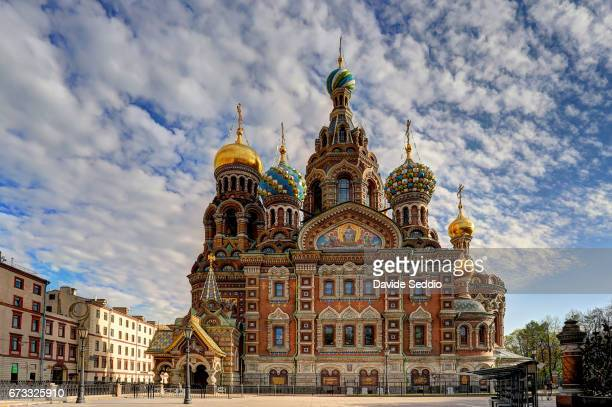 Front view of the Church of the Savior on the Spilled Blood, Saint Petersburg