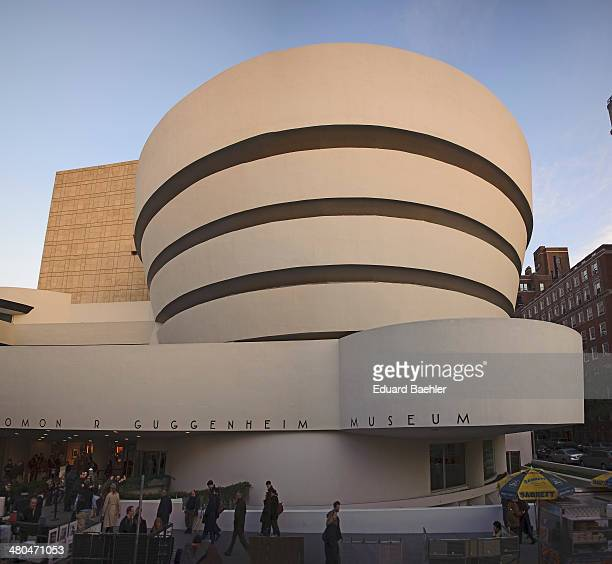 CONTENT] Front view of the Guggenheim Museum in Manhattan