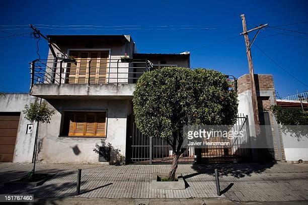 Front view of the house of the Messi family on Estado de Israel street number 525 on April 27 2010 in Rosario Argentina Barcelona´s Lionel Messi used...